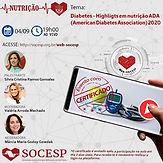 Diabetes: Highlights em nutrição ADA (American Diabetes Association) 2020