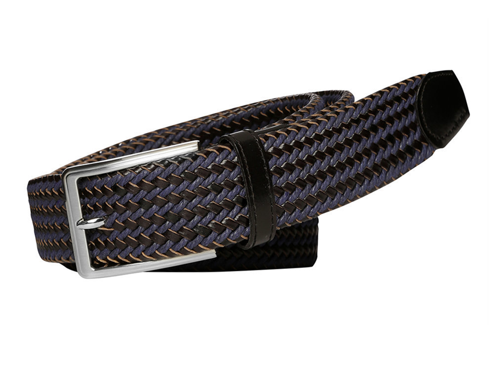 Daytona Black & Navy Plaited Belt