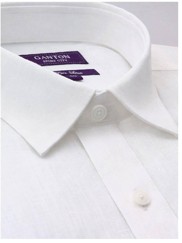 Ganton Short sleeve pure linen (2XL)