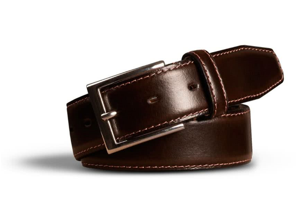 Stretch Leather Belt Brown