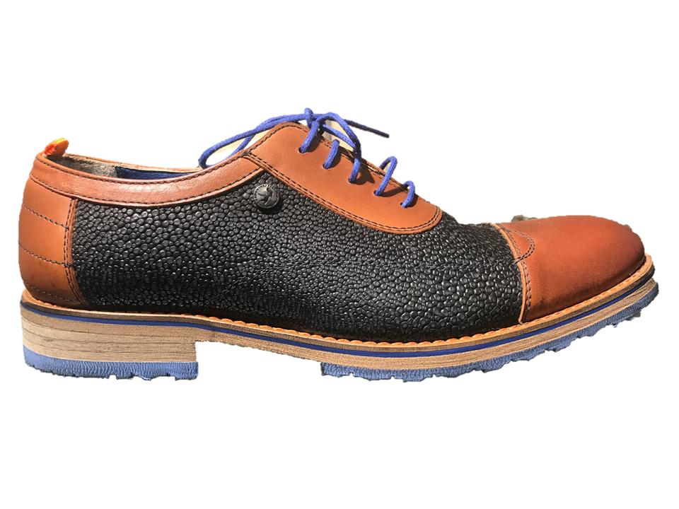 AFNF 72.705 A Fish Named Fred Oxford Tan & Navy