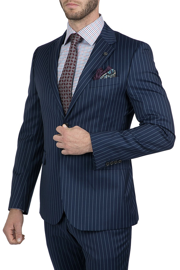 Cambridge Interceptor Bold Pin Navy Suit