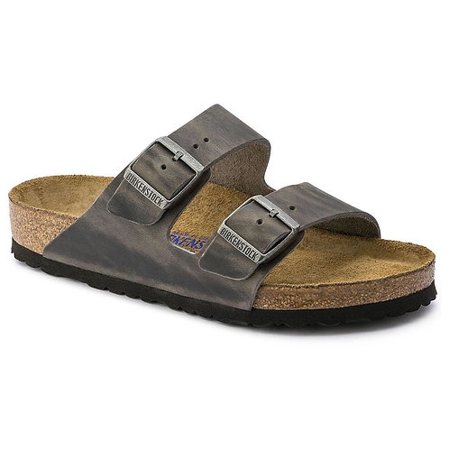Birkenstock Seasonal, Arizona Oiled Leather Iron