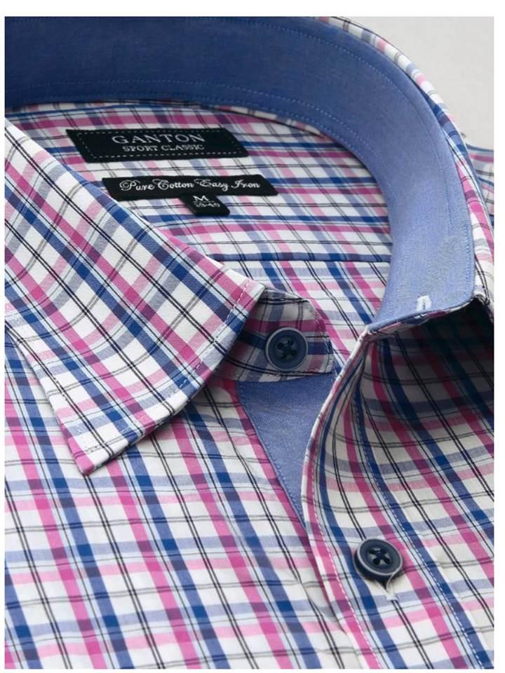 Ganton Short sleeve pink blue (Small)