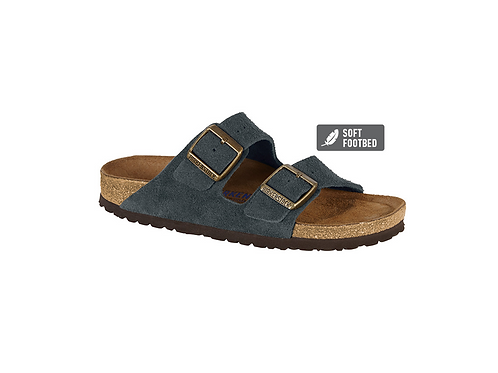 Arizona Suede Leather in Navy (Soft Footbed - Suede Lined)
