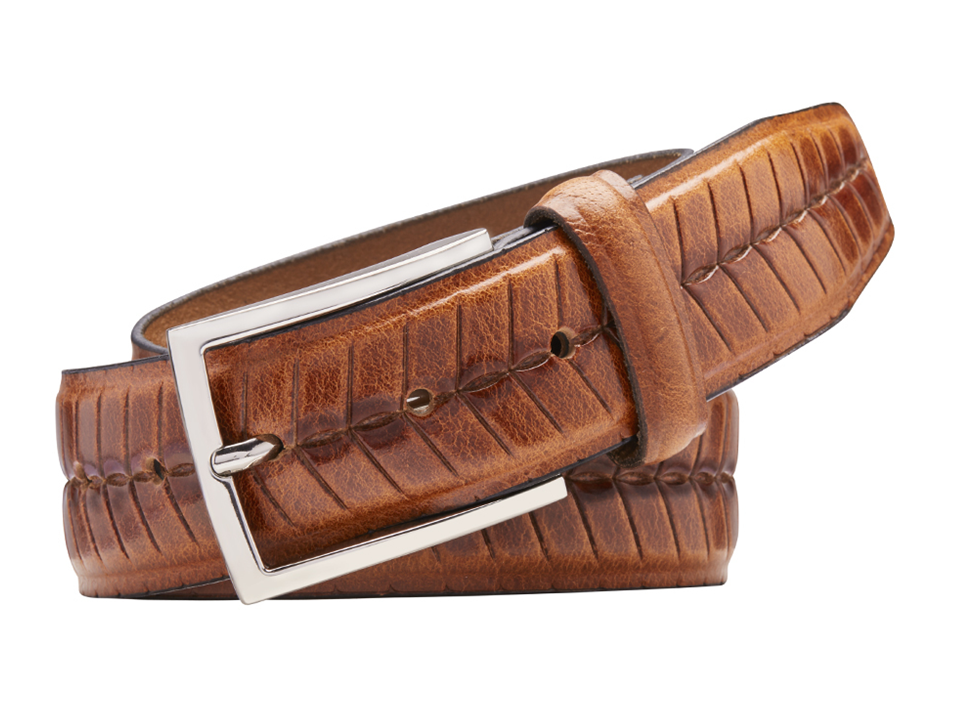 Havana Full Grain Natural Leather Belt