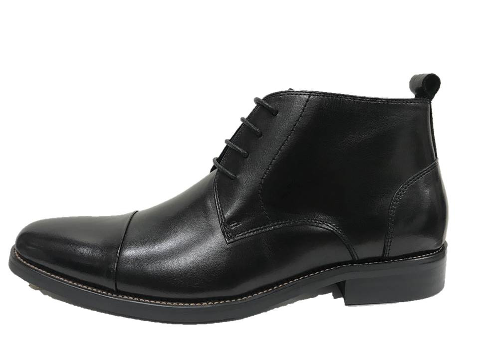 FM08B Martino half boot zip Black