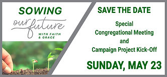 Save the Date Congregational Meeting bor