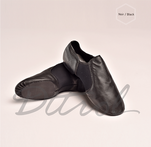 Elastic Jazz Shoes Black
