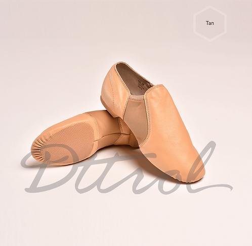 Elastic Jazz Shoes Beige