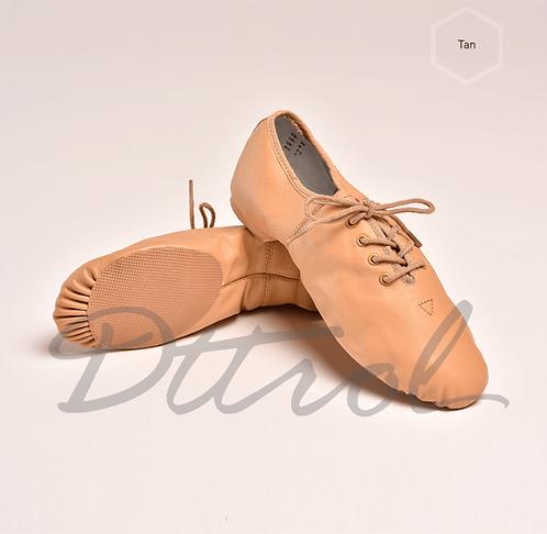 Lace Up Jazz Shoes Beige