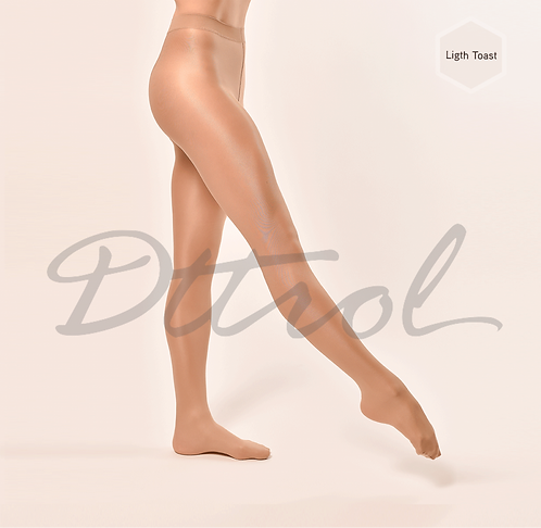 Footed Shimmer Tights Light Toast