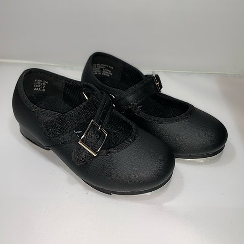 Little Tappers with velcro strap Black