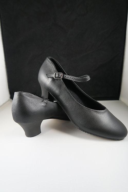 Chorus Shoes Leather upper Low Heel Black