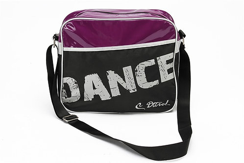 Dance Bag Purple and Black with shoulder strap