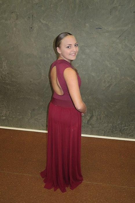 Modern Burgandy Mesh skirt