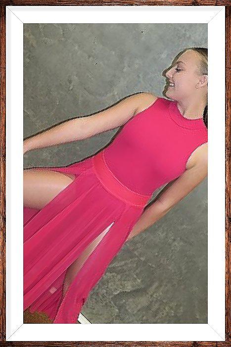 Modern Pink Mesh skirt
