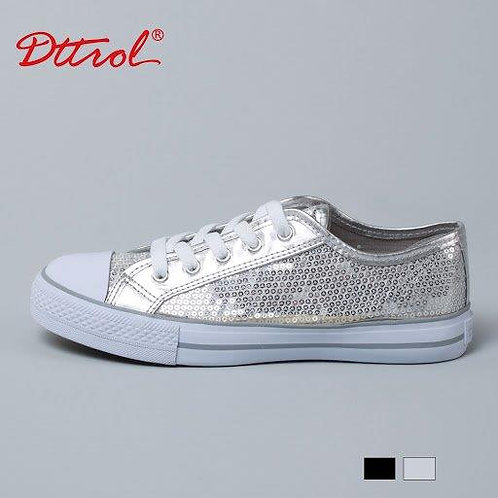 Silver Sequin Low Rise