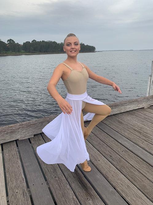 Modern White Mesh Skirt
