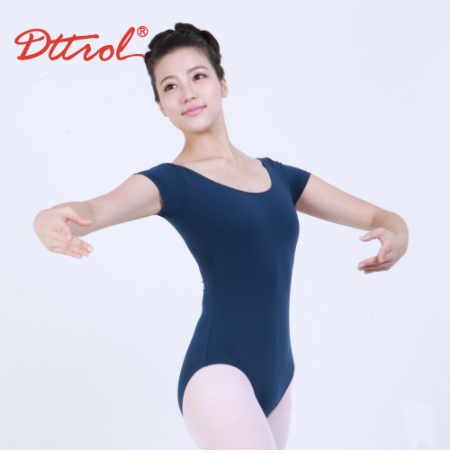 Lycra Short Sleeve Leotard Dark Blue