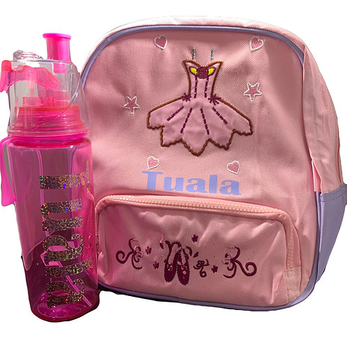 Christmas Ballet Bag and Water spray drink bottle pack