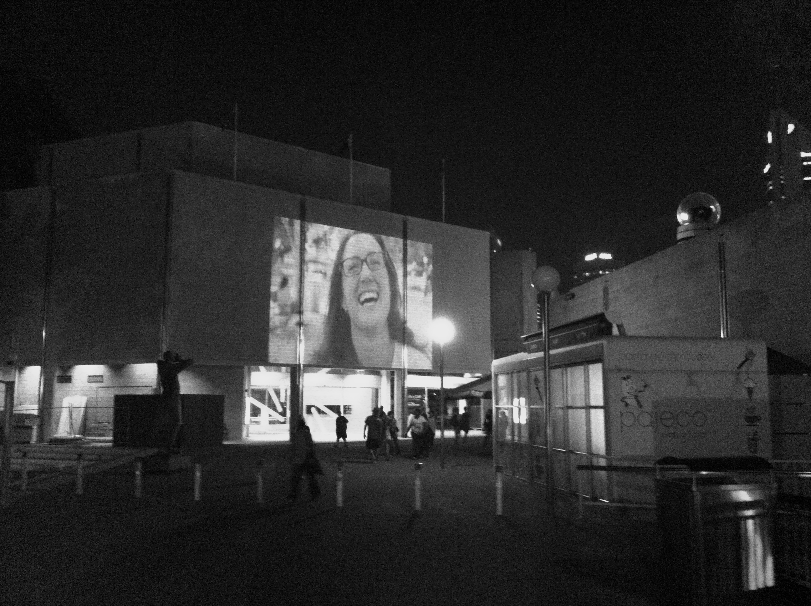Proximity Festival 2012, Film Projection Art Gallery of WA, Perth Cultural Centre. Photo Credit: Sar