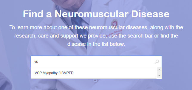 VCP disease description now on MDA website