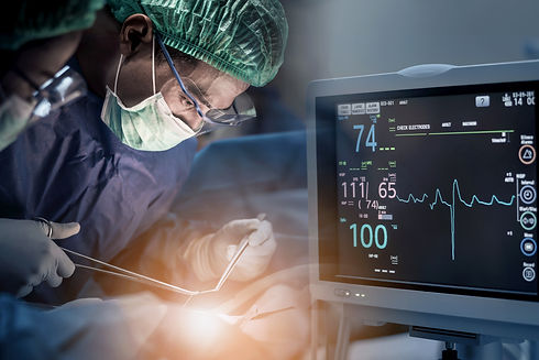 Team of doctors or surgeons with electro