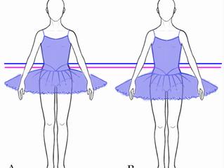 バレエ衣装:ちょっと体形カバー