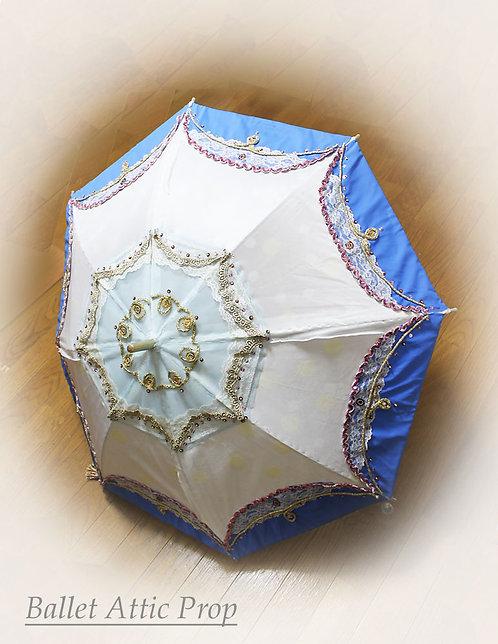 飾り傘 青