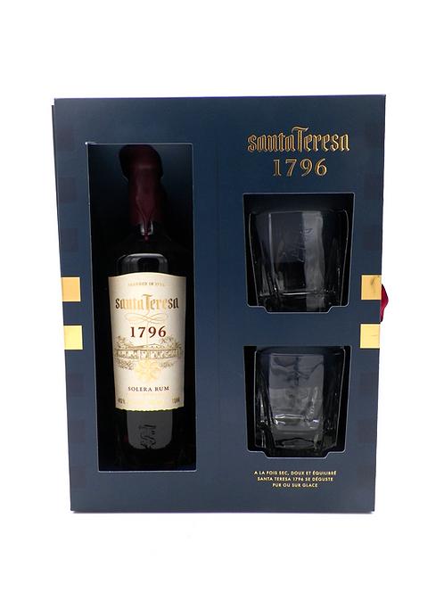 Coffret-Rhum / Santa Teresa + 2 verres