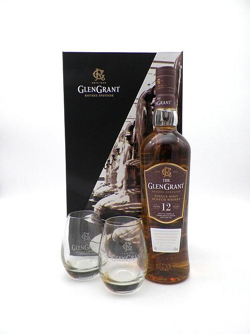 Coffret - Whisky / Glen Grant 12 ans + 2 verres
