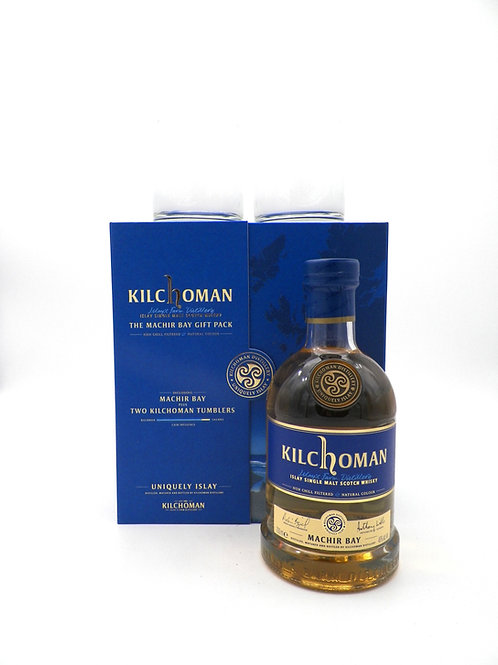 Coffret - Whisky / Kilchoman, Machir Bay + 2 verres