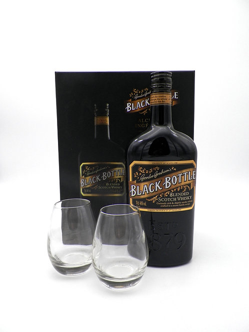 Coffret - Whisky / Black Bottle + 2 verres