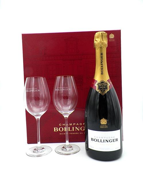 Coffret - Champagne / Bollinger, Spécial Cuvée + 2 verres