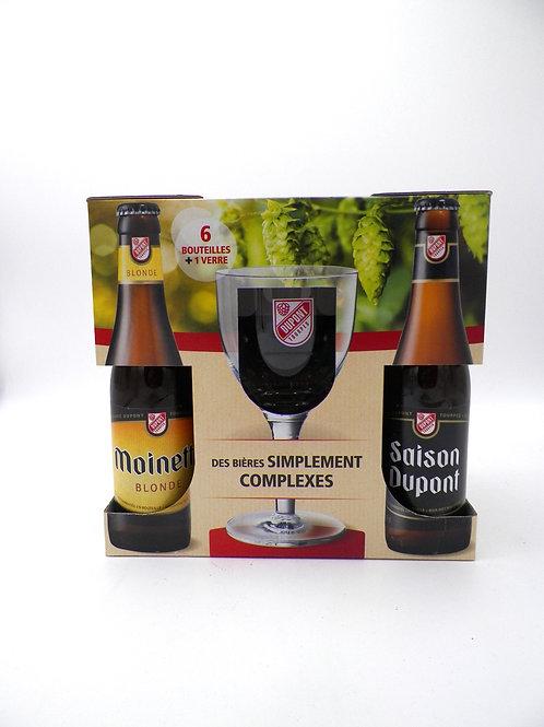 Coffret / Brasserie Dupont / 6X33cl + 1verre