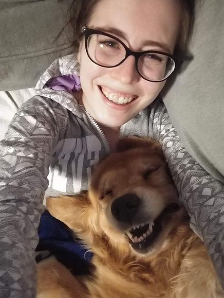 Kendra and pup.jpeg
