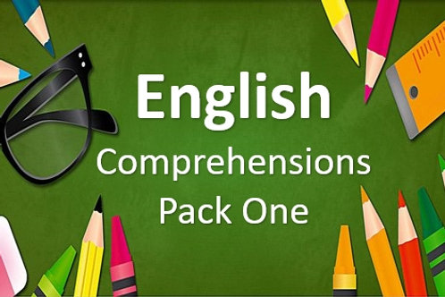 English Comprehensions - Pack One