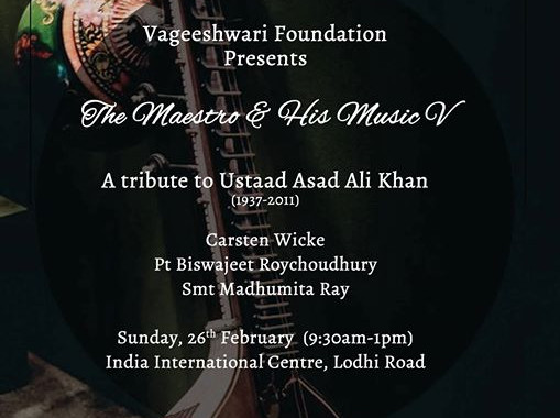 Ustad Asad Ali khan Tribute concert 2017 in New Delhi