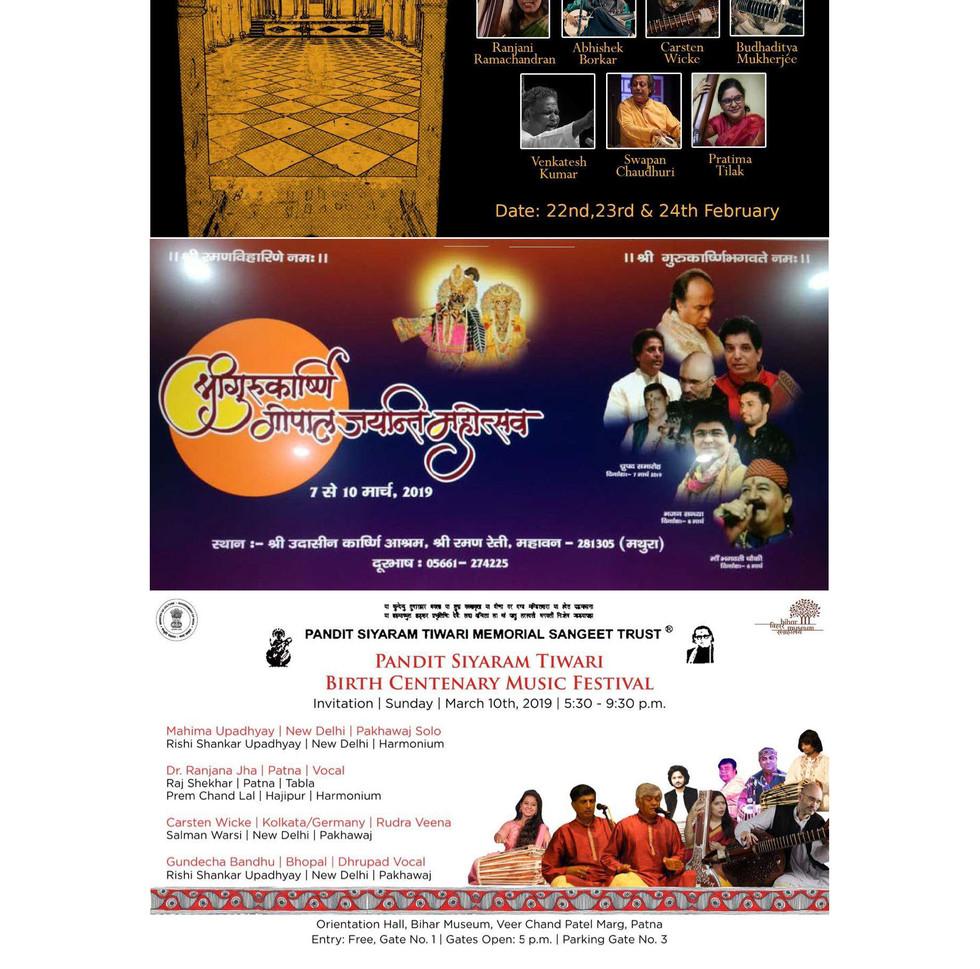 Rudra Veena Concerts India 2019