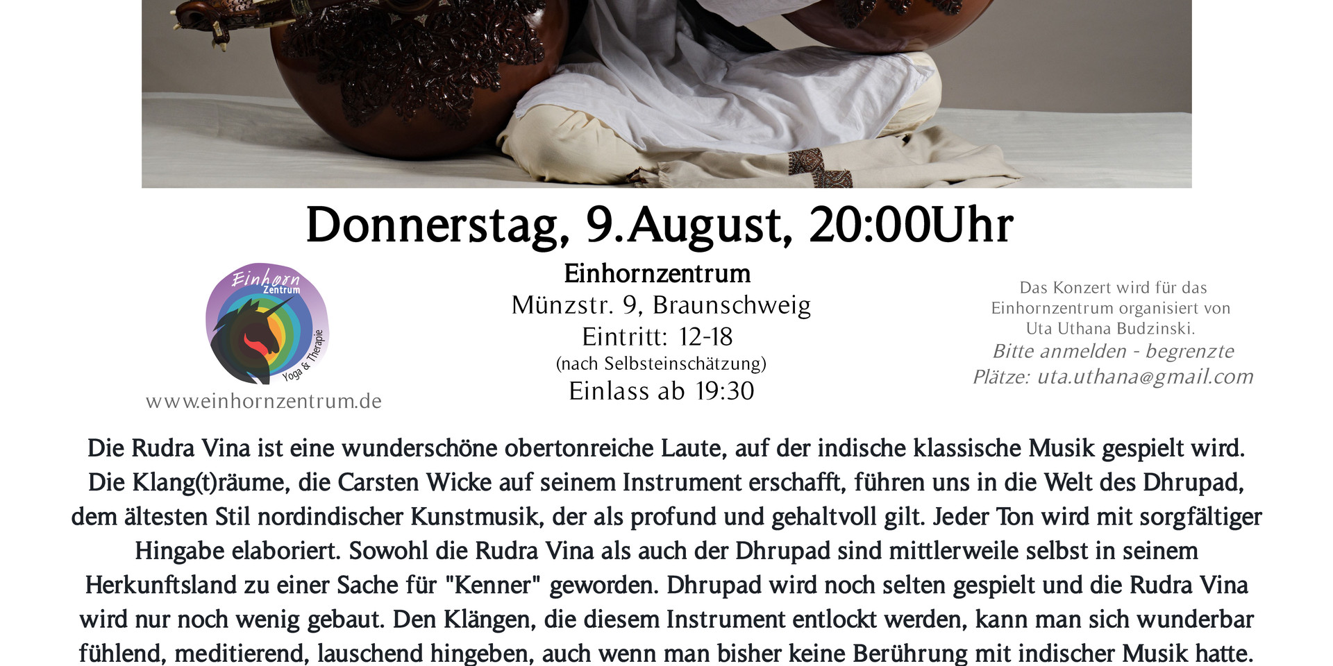 Rudra Veena Concert  in Braunschweig 9th August 2018