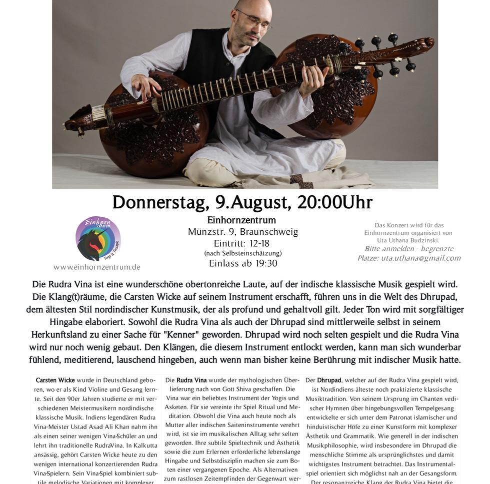 Rudra Veena Concert  in Braunschweig 9th August 2018
