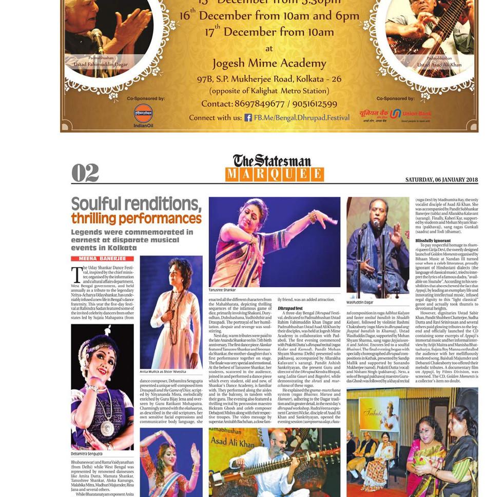 Bengal Dhrupad Festival 2017 in Kolkata