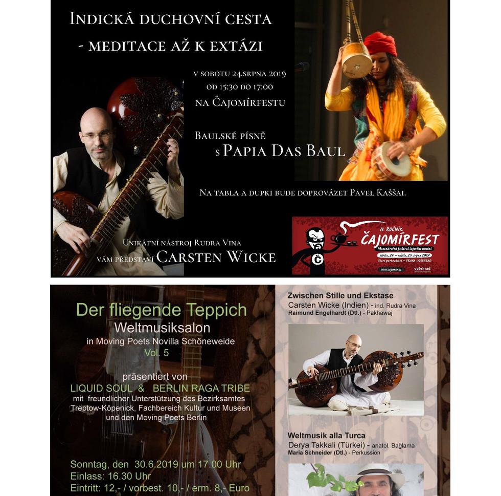 Rudra Veena Concerts in Berlin and Prague 2019