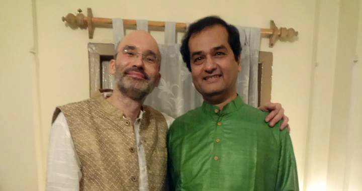 Carsten Wicke with Pt. Uday Bhawalkar