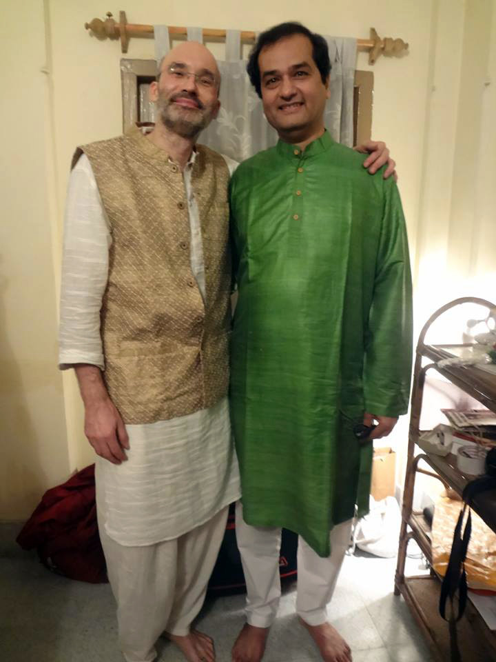 Carsten Wicke with Pt. Uday Bhawalkar
