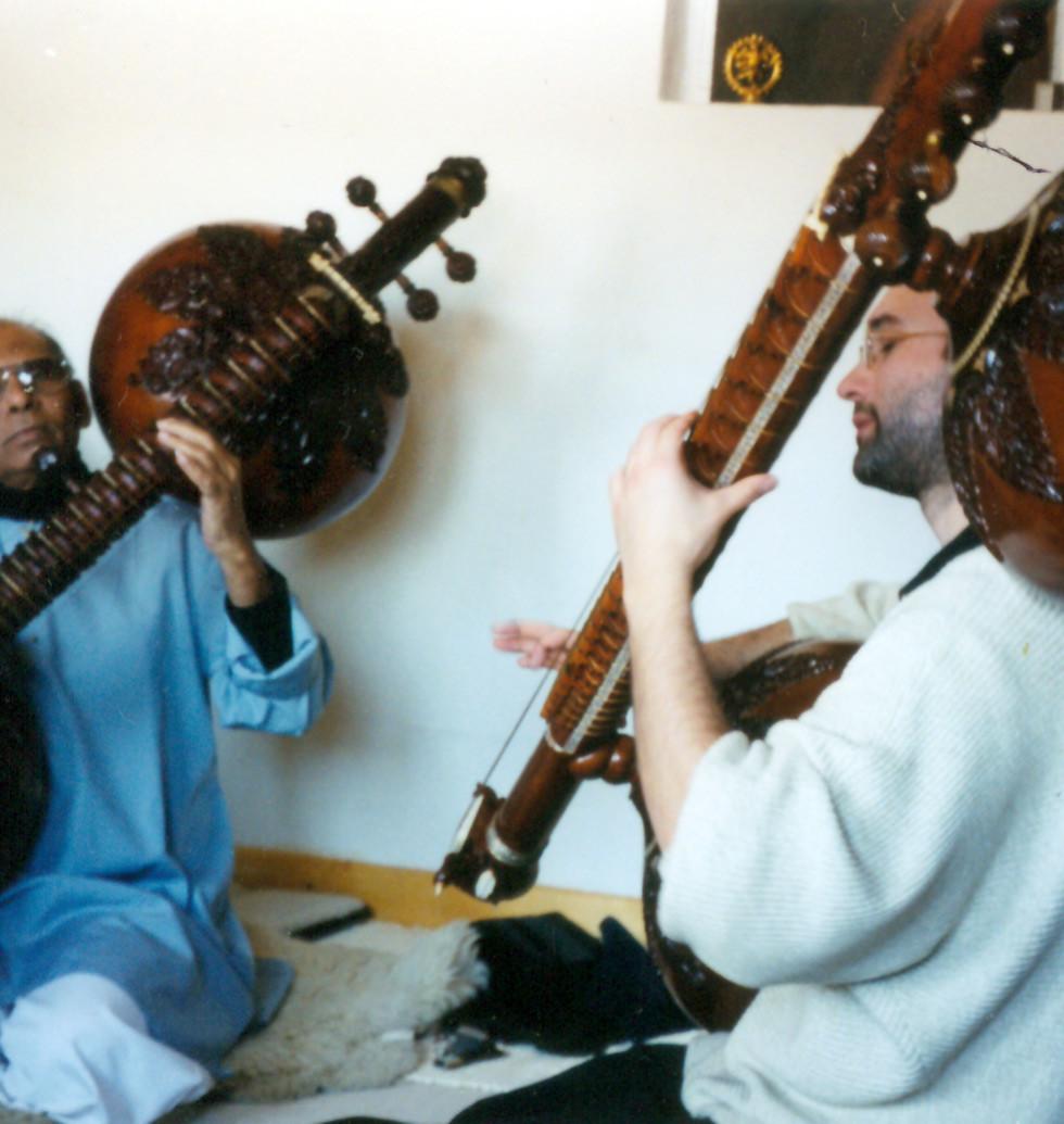 Ustad Asad Ali Khan and Carsten Wicke