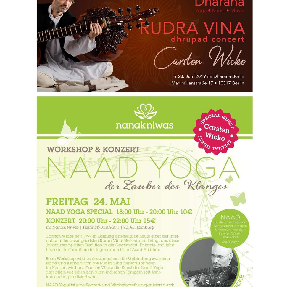 Rudra Veena Concerts in Berlin and Hamburg 2019