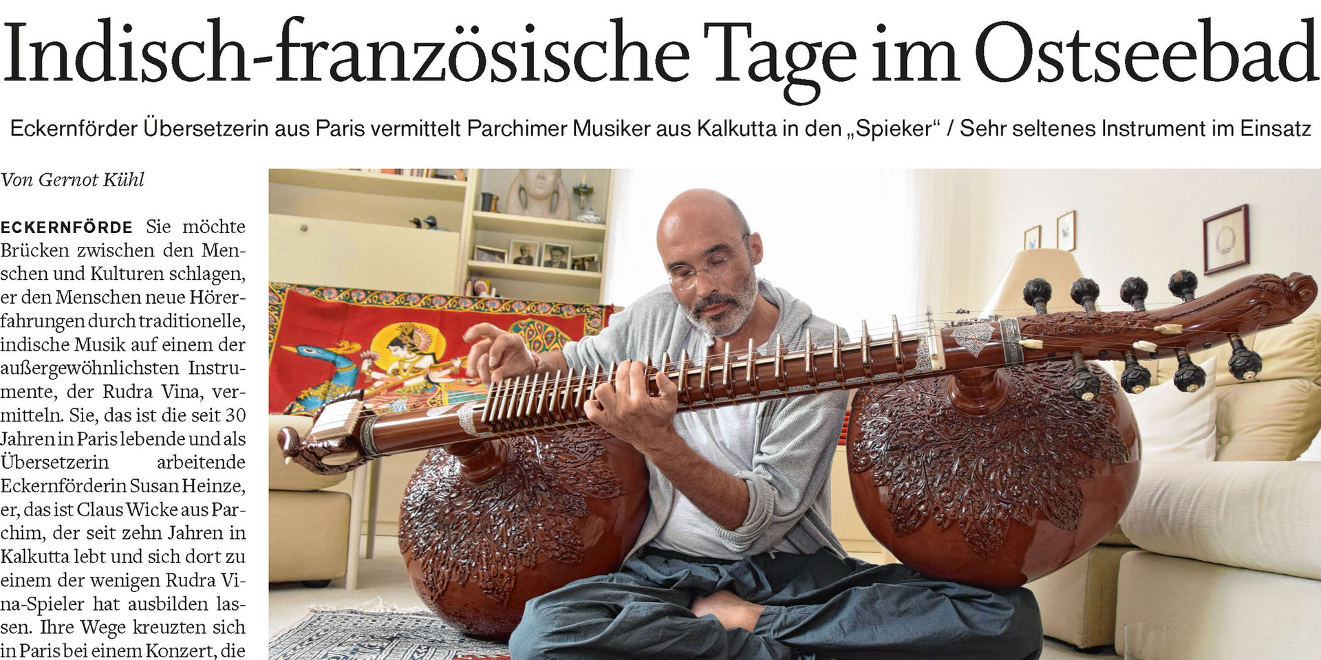 Interview Eckernförder Zeitung 18th August 2018