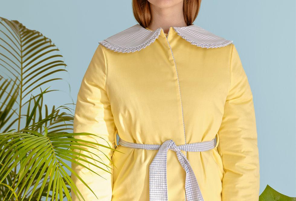 Casaco amarelo alcochoado